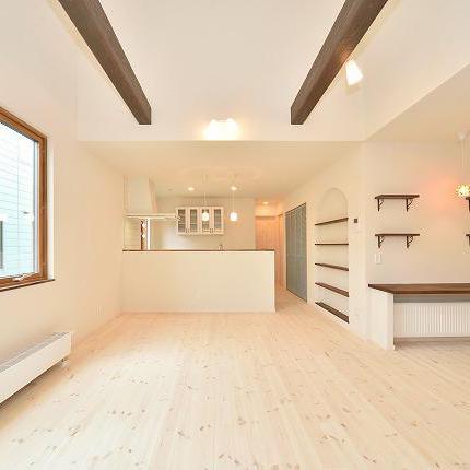 【施工事例紹介】三角屋根のかわいい平屋(旭川)